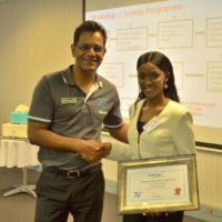Mphoma Matsheke, winner of the Young Chemist Award