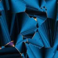 Liquid crystals formed by short RNA strands, revealed by polarised optical microscopy.