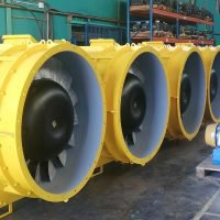 The first batch of TLT-Turbo Auxiliary Fans ready for delivery to Kamoa Copper.