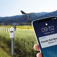 Multiple SmartSensors communicating with a central RX3000 acting as a remote weather station