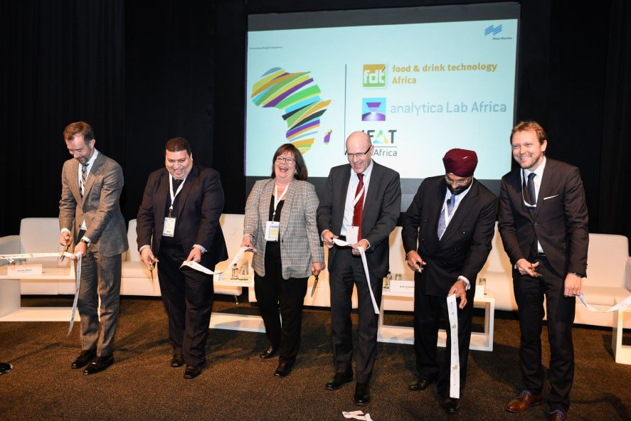 Experts at the opening of IFAT Africa, food & drink technology (fdt) Africa and analytica Lab Africa in Midrand